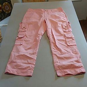 Ralph Lauren pink cargo capris